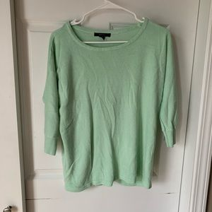 Forever 21 light blue teal acrylic 3/4 sweater